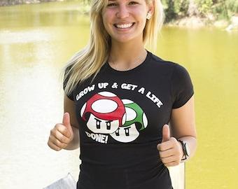 Funny T-shirt | Grow Up Get Life