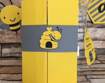 12 Bumble Bee Baby Shower Invitation, Bee Baby Shower Invitation, Mommy To Be Invitation, Bee Birthday Invitation, Honey Bee Baby Shower Inv