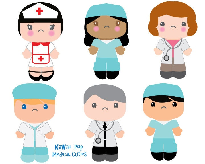 cute kids clipart kawaii clip art nurse doctor clipart rh etsy com nurse clip art black and white nurse clip art photos
