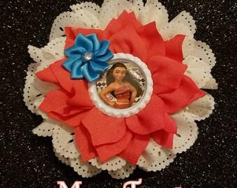 SALE!! 7 Styles Moana Princess Double Flower Headbands/Clips/Barrettes