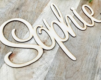 Baby name plaques etsy 40cm wide wall sign hanging plaque timber name plaque bedroom decor nursery decor personalised gift names negle Choice Image