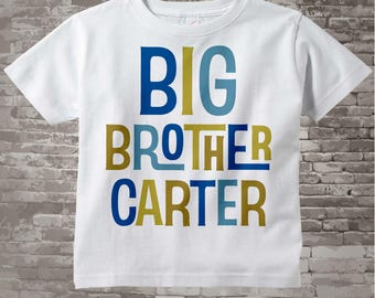 Big Brother Shirt or Onesie, Personalized Big Brother Shirt, Infant, Toddler or Youth sizes t-shirt 12172013b