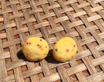 Confetti Cookie Stud Earrings