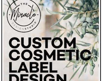 Custom cosmetic label design -  Label and packaging deisgn - Professional cosmetic packaging - Custom minimalist label - Label design