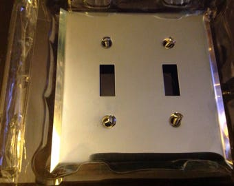 Silver metal switch plate