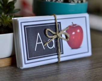 Mini ABC Cards with Letters & Picture