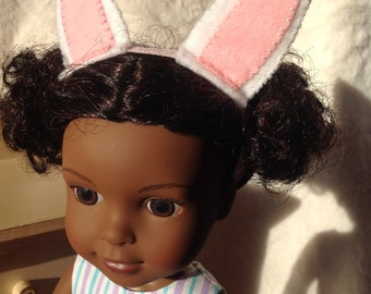 Bunny Ears Headband for Wellie Wisher dolls and Hearts for Hearts dolls