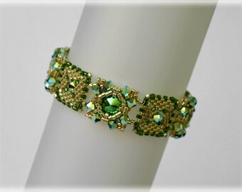 Greeny bracelet beading TUTORIAL