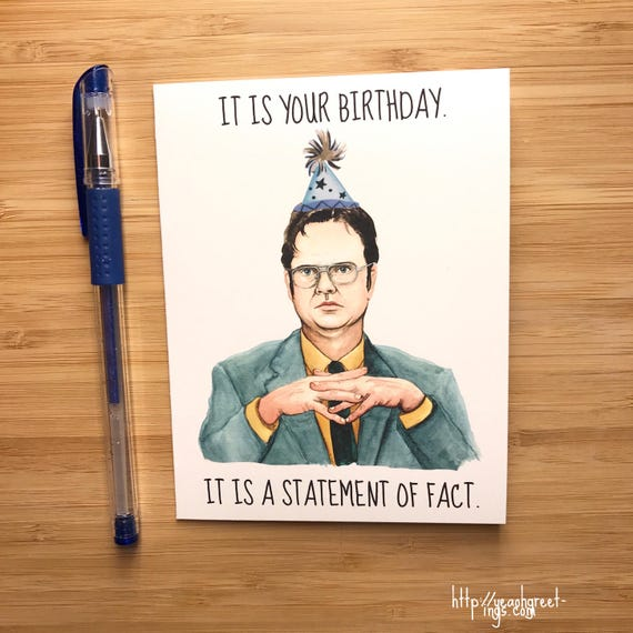 the office birthday cards