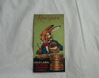 1930's Brer Rabbit Molasses Recipe Booklet, Candy Making Cooking