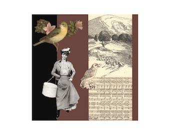Serendipity 1. Open Edition Print. Vintage Theme.