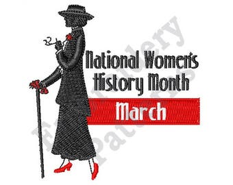 March - National Women's History - Machine Embroidery Design