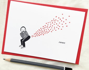 Fhearts - Love Greeting Card