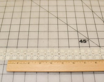 Vintage Lace, Narrow, Off White, 1 and 1/2 Yards