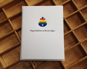 Congratulation on the New Baby: Letterpress Card