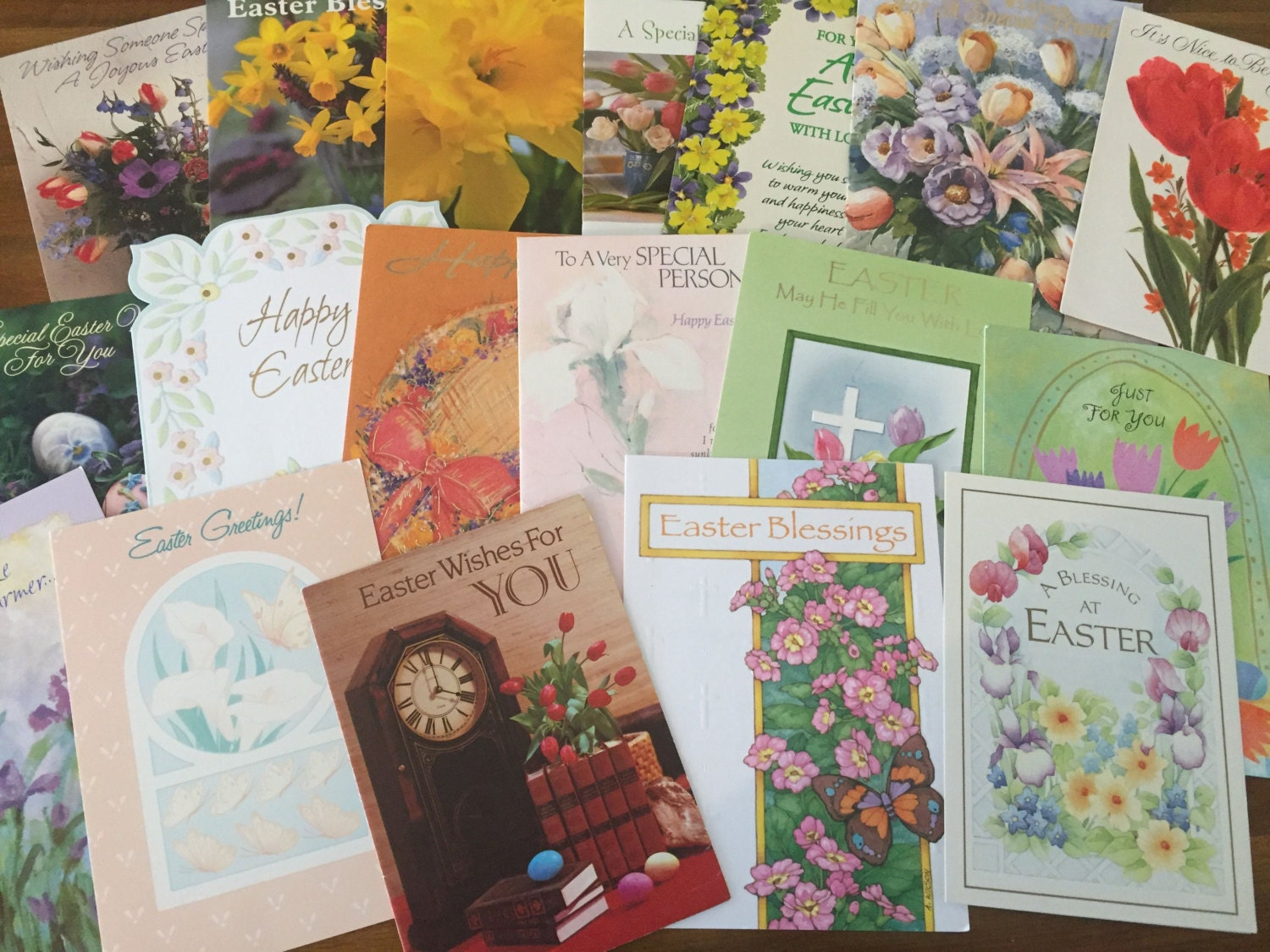 18 vintage easter cards used greeting cards from the 1970s sold by murieljoy kristyandbryce Choice Image