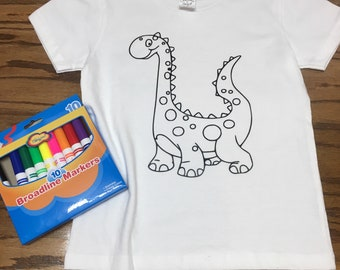 Coloring shirt for kids and toddlers - Color Me T-Shirt