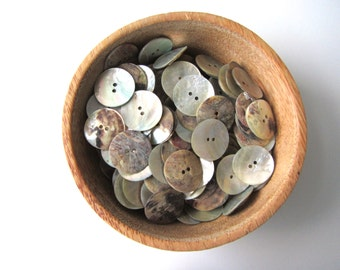 Shell buttons 30 mm large button nr. 67 | 10 pieces