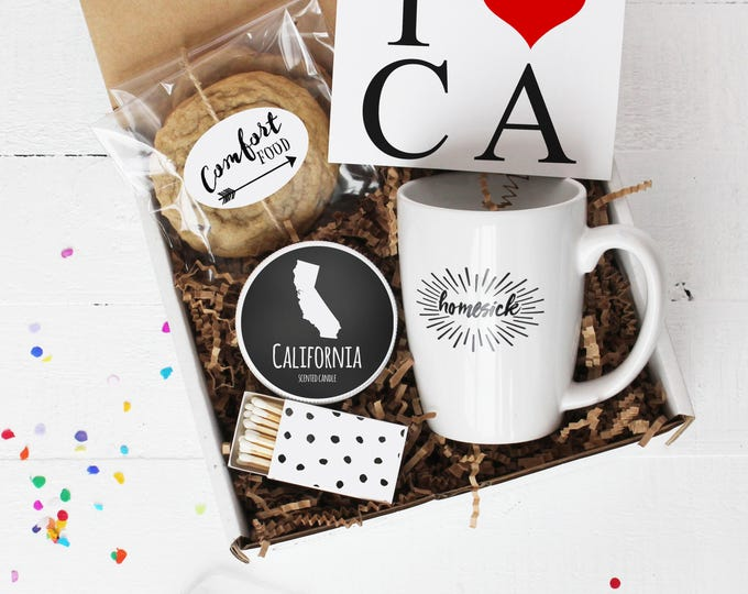Homesick Gift Box - College Care Package | Friend Gift | Send a Gift | Thinking of You Gift | Miss You Gift | State Gift - ANY STATE