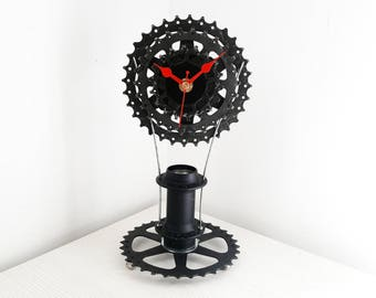Bicycle gear clock, bike clock, steampunk clock, clock art, gift for him, large wall clock, bicycle clock, dad gift, cyclist gift