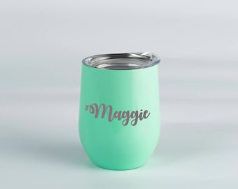 Personalized Wine Tumbler Personalize Tumbler Insulated Tumbler Wine Sippy Cup Metal Tumbler Stainless Steel Cup Metal Cup Stainless Tumbler