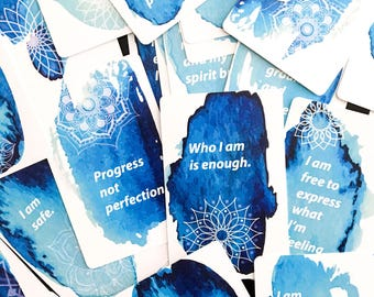 Affirmation Cards - 36 cards in shrink wrapped casing, size 2.25 x 3.5 inches