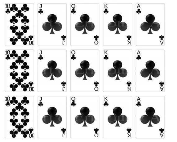 Casino Poker Cards Clubs Designer Strips - Edible Cake Side Toppers- Decorate The Sides of Your Cake! - D22839
