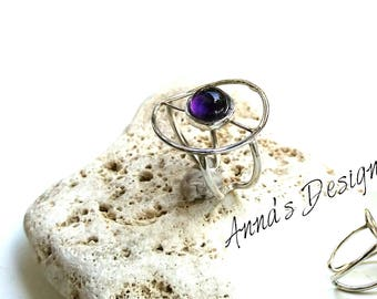 Handmade ring with amethyst