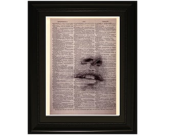 """Blindness"""".Dictionary Art Print. Vintage Upcycled Antique Book Page. Fits 8""""x10"""" frame"""