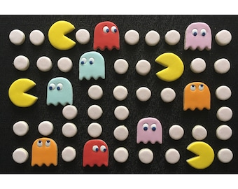 Pac Man Decorated Cookies - One Dozen