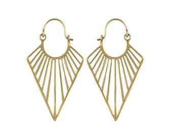 MA'AT  bohemian brass earrings