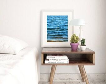 Minimalist Wall Art | Blue Waters | Nature Photography