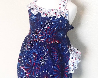 4th of July outfit, baby girls first 4th of july, toddler 4th of july outfit, Fourth of July baby girl, girls 4th of July romper