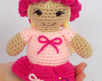 Amigurumi Doll Amigurumi Girl Doll Pink Amigurumi Doll Amigurumi Baby Doll Gift for Girl Gift Girl Birthday Gift