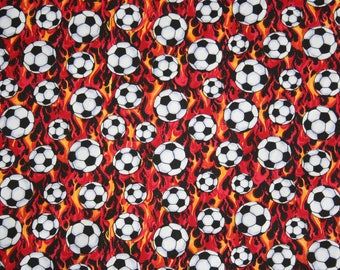 Football fabric 100 % cotton. Sold per metre.