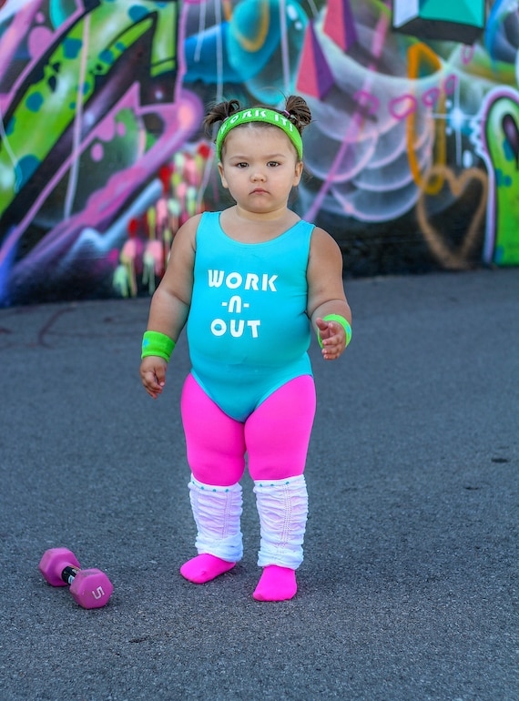 sc 1 st  Etsy & Girls 80s Halloween Costume Toddler Workout Costume Girls