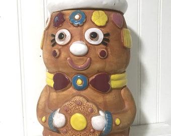 Vintage Gingerbread Cookie Jar Pottery