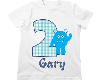 Monster Birthday Shirt or Bodysuit - Personalized Birthday Shirt