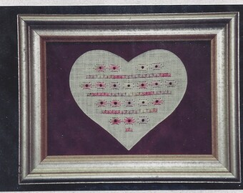 Clearance - Summer Pastels Sampler Heart Series (Mat included) by Forever in My Heart