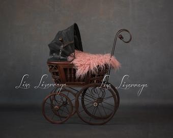 Vintage Pink Stroller