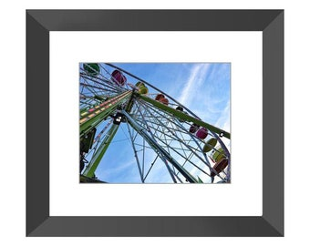 Ferris Wheel Fun Framed Print (Black or White)
