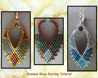 Stained Glass Beaded Earring Tutorial