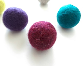 Felted Wool Ball Cat Toys, Bouncy Balls, Catnip Balls, Felted Balls, Wool Balls, Wool Cat Toys, Dryer Balls, Kitten Toys, Easter Cat Toy
