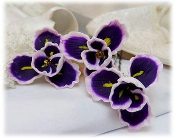 Purple Iris Hair Pins - Purple Iris Hair Accessories, Purple Iris Hair Flowers