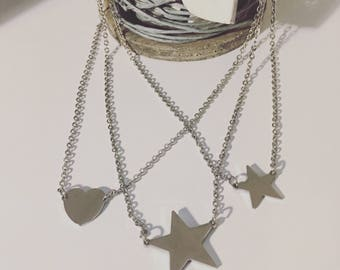 Star Necklace and Steel heart
