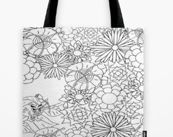 Grumpy Flowers - Colorable Bag