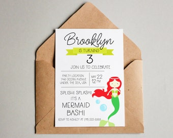 Mermaid Birthday Invitation Mermaid Birthday Invite Mermaid Printable Mermaid Invite Editable Mermaid Invitation Template Birthday Invite