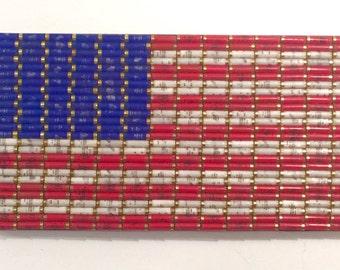 Shotgun Shell American Flag Patriotic Wall Decor