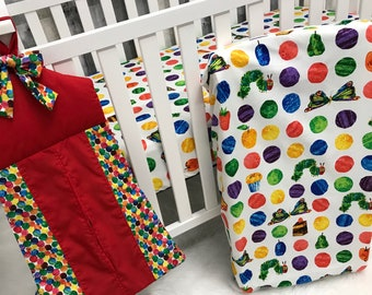 Custom Made Baby Bedding , The Very Hungry Caterpillar , Crib Bedding , Nursery , Baby , Crib , Bedding , Babylooms