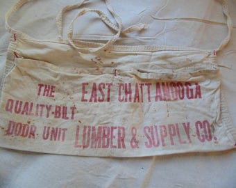 Chattanooga TN Lumber Supply vintage nail apron old memorabilia